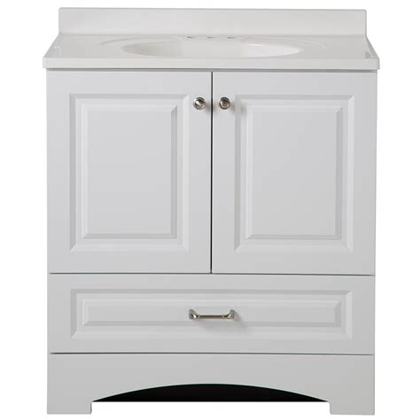 glacier bay lancaster 30 in w x 19 in d bath vanity and