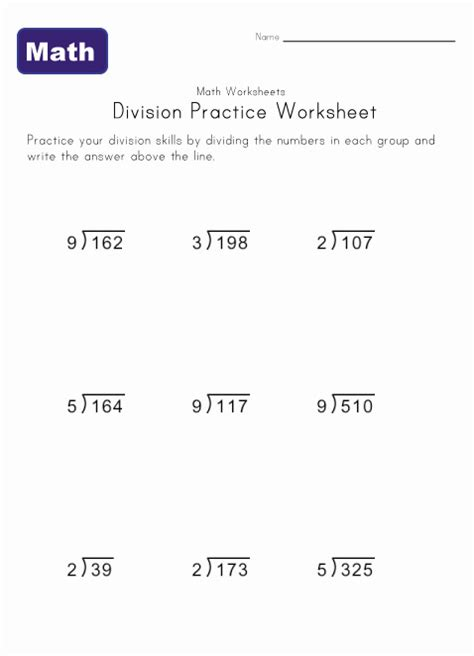 Division Practice Worksheets by Division Practice Worksheets Learning Station