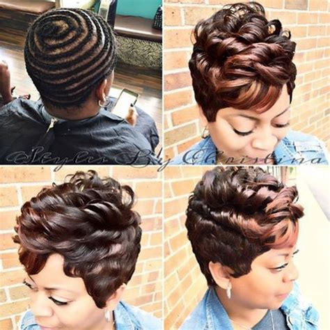 sewing hair weave for a mohawk transformation tuesday love this pixiecut wig