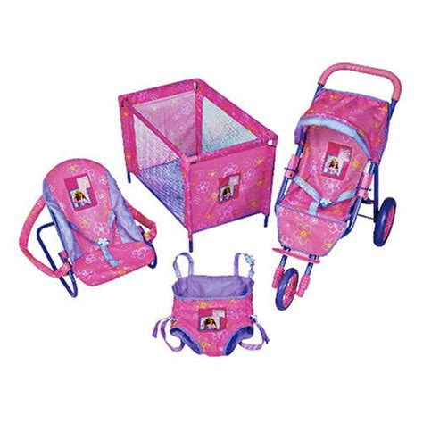 Papoose Chair by 3 Wheel Baby Dolls Travel Set Pushchair Cot