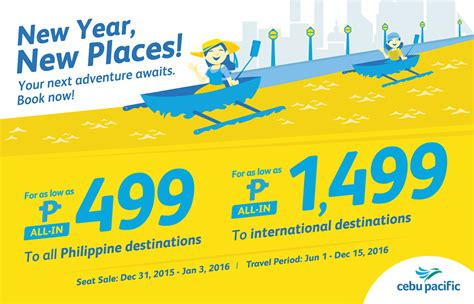 new year airline promo cebu pacific promo fares 2018 to 2019 new year 2016 promo