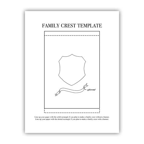 family crest template for printable family crest template the postman s knock