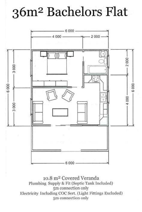 floor plan of a bachelor flat esp log homes standard plans