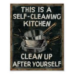 self cleaning kitchen poster zazzle