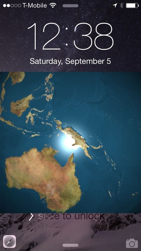 earthlockscreen places  rotating globe   iphones