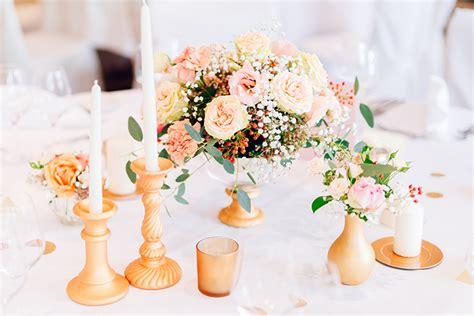 Goldene Hochzeit Deko by Hochzeit In Gold Und Rosa Friedatheres