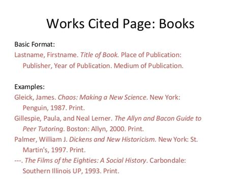 sle of works cited page week 2