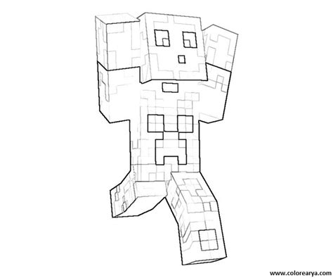 minecraft girl skins coloring pages