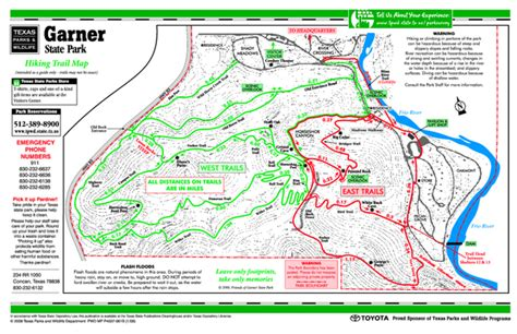 texas hiking trails map garner texas state park hiking trail map garner texas mappery