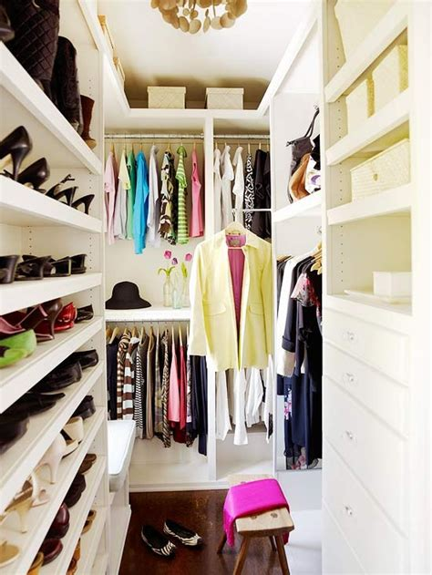 Organized Closet by Small Walk In Closet Organization