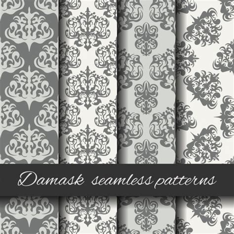 damask pattern freepik damask seamless pattern collection vector free download