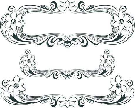 eps format borders decorative border illustrator free vector download