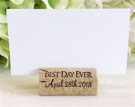 cork name holders 70 best personalized wine cork place card holders images