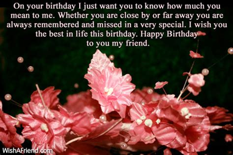Birthday Quotes For Who Has Away Birthday Quotes For Friends Far Away Image Quotes At