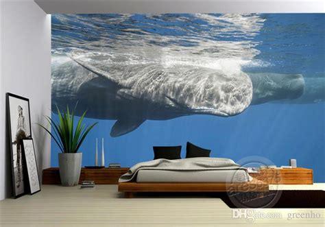 ocean wallpaper whale photo wallpaper natural scenery mural wall painting large wall art sea