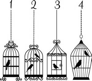 Wall Stickers Bird Cage bird cage vinyl sticker wall art bedroom decal ebay