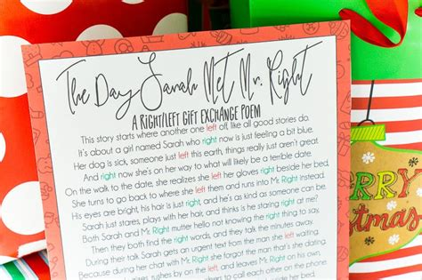 the night before christmas poem exchange gift a hilarious left right gift exchange poem play plan