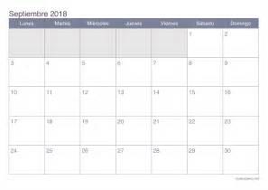 Calendario 2018 Septiembre Calendario Septiembre 2018 Para Imprimir Icalendario Net