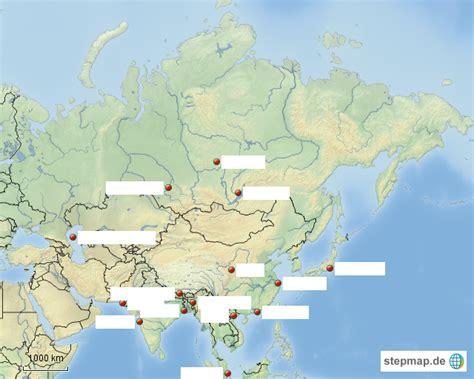 Asiat Gebirge by Eurasien Gro 223 St 228 Dte Leer Suitbertus Landkarte F 252 R Asien
