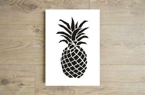 cuisine 駲uip馥 noir et blanc affiche ananas noir et blanc poster ananas noir et blanc
