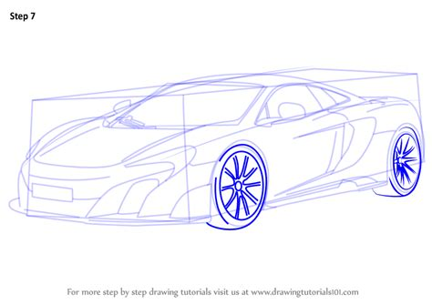 learn how to draw f1 car sports cars step by step learn how to draw mclaren 675lt sports cars step by step