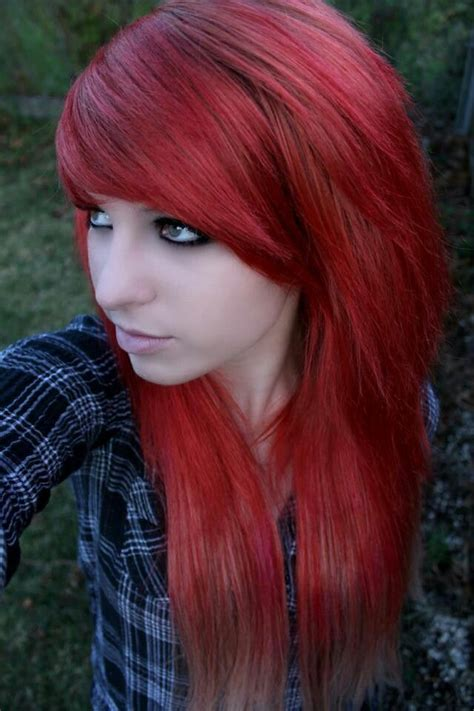 emo hairstyles and colors love how it fades at the bottom hairstyles and colors