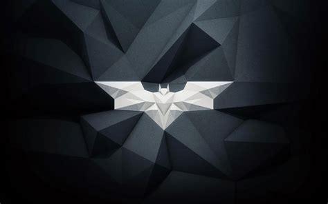 wallpaper batman low poly bat signal logo batman low poly wallpapers hd desktop