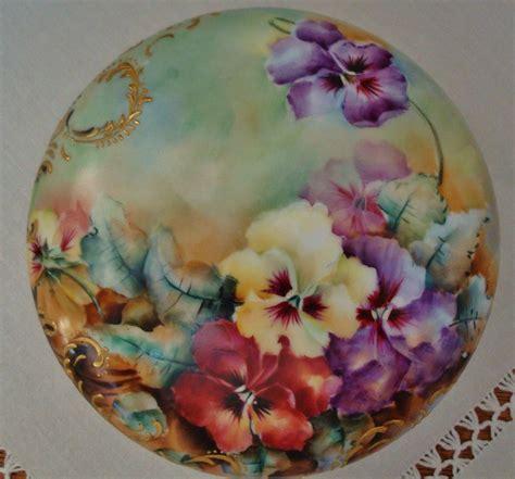 how to paint a porcelain antique limoges france hand painted porcelain powder box
