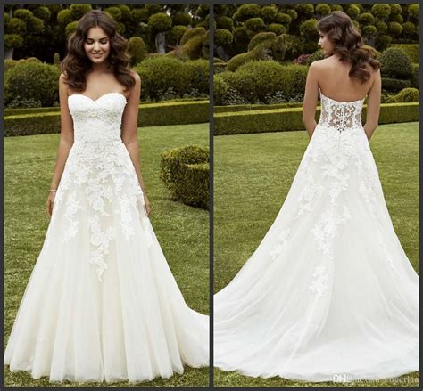 Wedding Dresses For Sale by Simply A Line Wedding Dresses Strapless Sweetheart