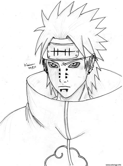 Coloriage Manga Naruto 120 Dessin