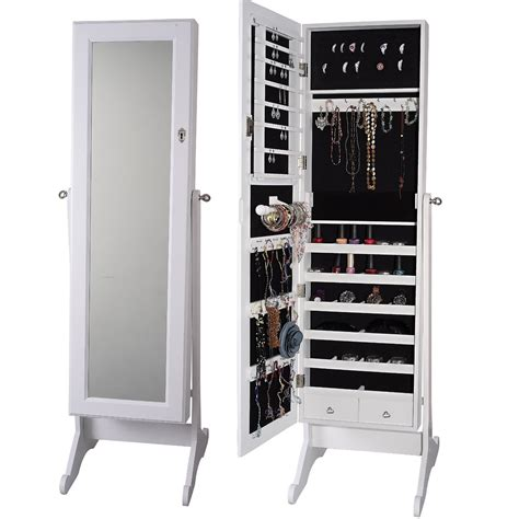 Mirrored Jewellery Armoire by Jewelry Armoires Home Decorator Shop