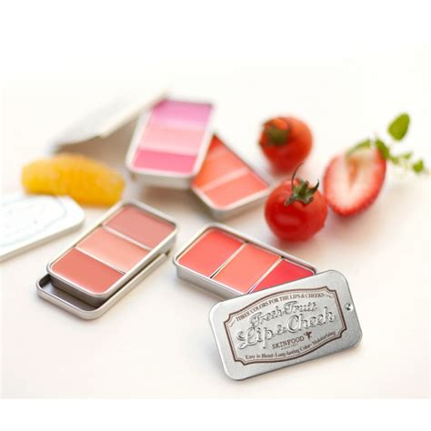 Skinfood Fruit Lip Cheek Trio skinfood fresh fruit lip cheek trio 2 5g 3