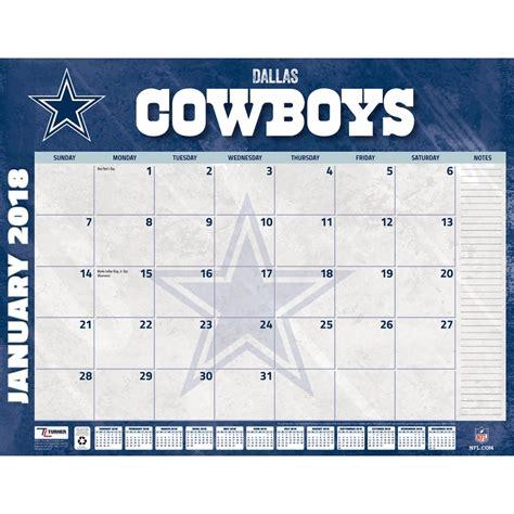 dallas cowboys 2018 desk pad 9781469350899 calendars com