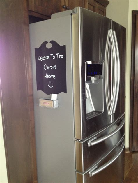 a fridge far refrigerator stick out far get a chalkboard decal to