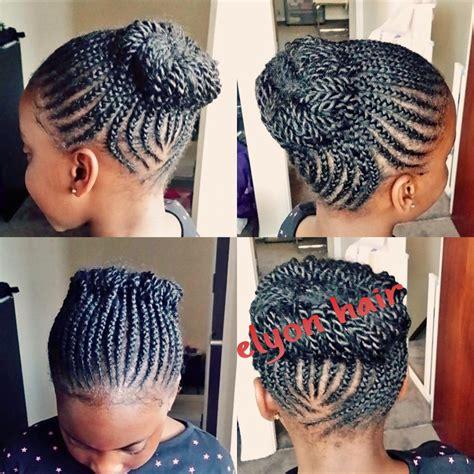 Cornrow Updo Hairstyles by Cornrows Updo Personal Hair Cornrows