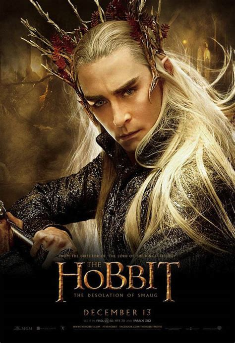 el hobbit the cartel thranduil en el hobbit la desolaci 243 n de smaug parte 2 cinedor