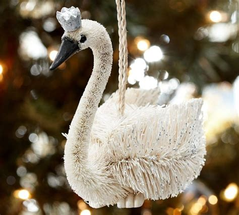 crowned swan ornament eclectic christmas ornaments