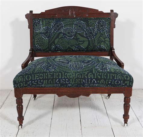 eastlake settee vintage eastlake style settee upholstered in african