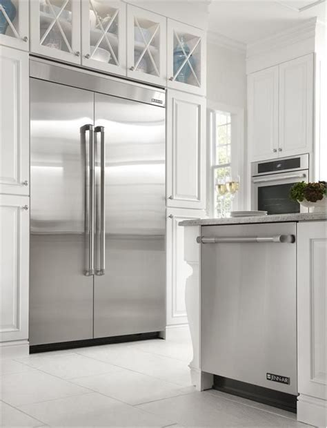 built in fridge jenn air 174 48 quot fully integrated built in side by side