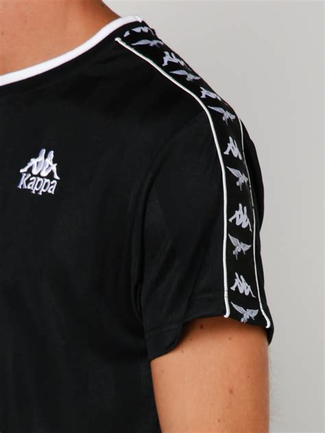 kappa peking duk banda t shirt in black