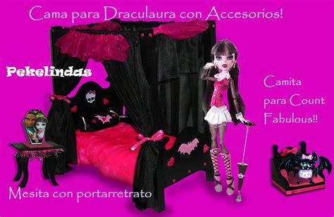 camas de monster high nueva cama con accesorios para draculaura camitas para