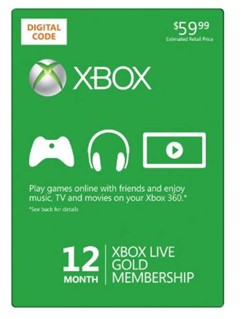 20 Xbox Gift Card - amazon free 20 xbox live gift card with 12 month xbox live gold membership purchase