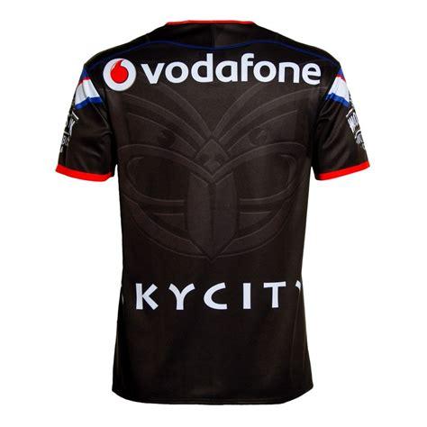 black jersey 2016 vodafone warriors replica heritage jersey black