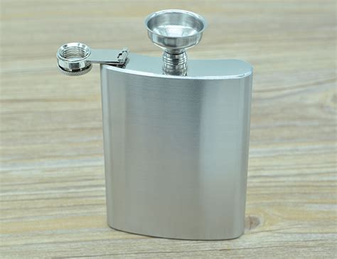 botol minum wine bir flask hip square shape stainless