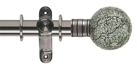 glass ball curtain pole galleria 35mm metal curtain pole mosaic glass ball the