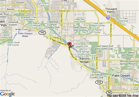 california map rancho mirage map of garden inn palm springs rancho mirage