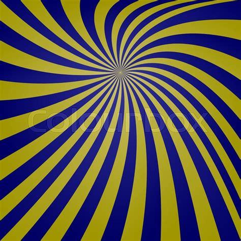 dark blue and yellow spiral design background stock