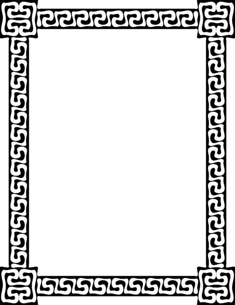 greek pattern frame clipart greek key frame 6