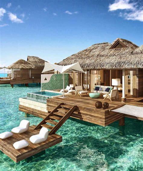 sandals resort packages all tahiti honeymoon bungalow packages overwater inclusive