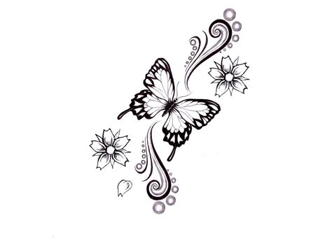 flower with butterfly tattoo designs butterfly sketches tukang kritik